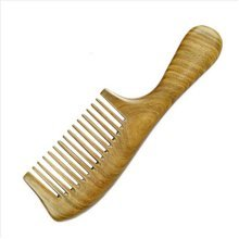 Wide Tine PALO SANTO Handle Comb Anti-static Wooden Comb
