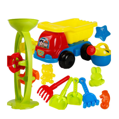 11 Piece Beach sand Toy Set, Bucket, Shovels, Rakes,Perfect for Holding Childrens' Toys#A