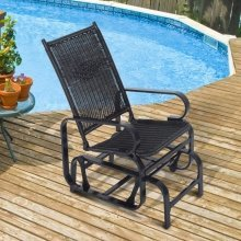 Outsunny Rattan Rocking Chair Single Seater