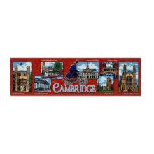 Cambridge Fridge Magnet Souvenir Gift Red Collage Scenes Montage Rectangular New