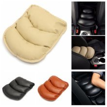 Universal PU Leather Car Armrest Mat Storage Box Cover Cushion
