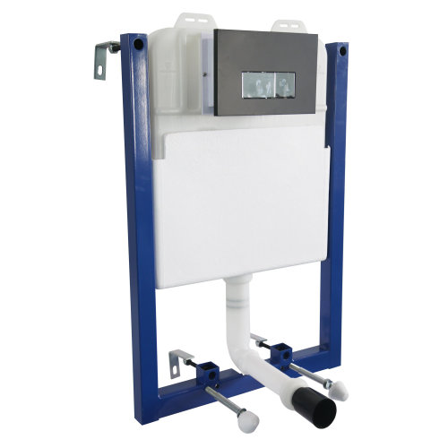 HOMCOM Toilet Installation System, Cistern Capacity 7L-White/Blue