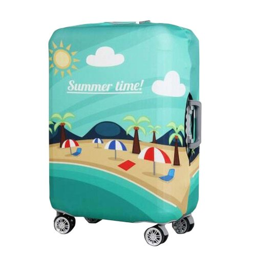 [Summer Time] Green Spandex Travel Luggage Cover Scratches/Dust Prevent