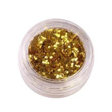 5 Boxes Makeup Glitter Sequins Shining Nail Art Sequins Face Glitter, Yellow