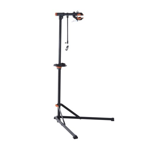 Homcom Folding Bike Repair Stand Adjustable with Quick Release and Tool Tray