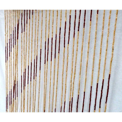 Beaded Door Curtain String Curtain Blinds Divider BAMBOO WOOD *STRIPES*