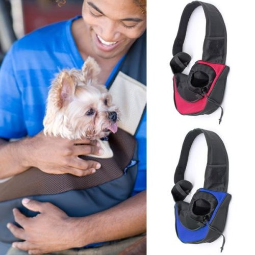 L Pet Dog Cat Carrier Mesh Sling Backpack Travel Tote Shoulder Bag