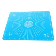 Silicone Baking Mat With Measurements, Non-Stick, Heat Resistant Reusable Blue A