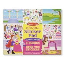 Melissa & Doug Reusable Sticker Pad: Princess Castle - 200+ Stickers and 5 Scenes