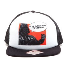 Star Wars It Is Pointless to Resist Darth Vader Trucker Snapback Baseball Cap, One Size, Multi-Colour (Model No. SB150931STW)