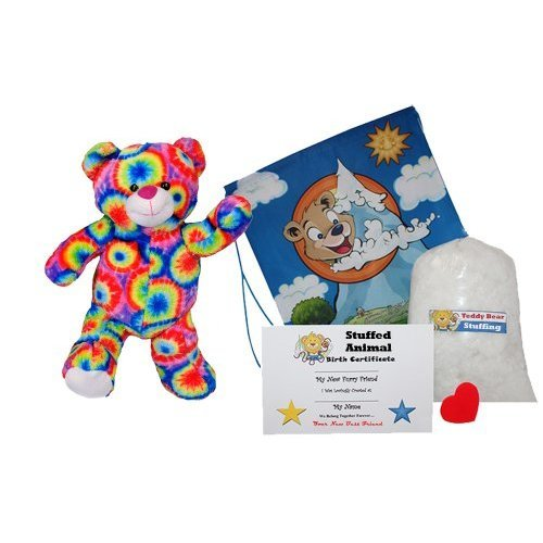 Make Your Own Stuffed Animal quotRainbows the Bear quot No Sew Kit With Cute Backpack