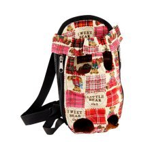 Portable Travel Front Backpack Carrier Bag For Pets RED (Suitable for 2-4kg)