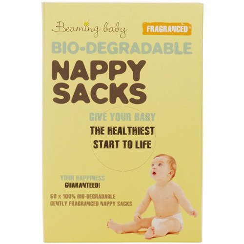 Beaming Baby Bio-degradable Nappy Sacks  Fragranced 60's
