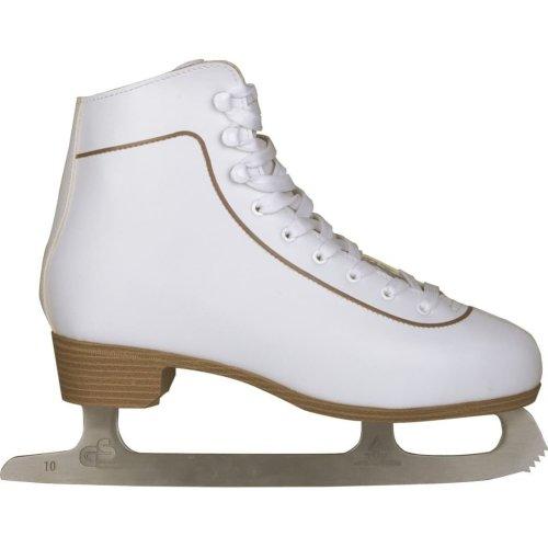 Nijdam Women's Figure Skates Classic Leather Size 42 0043-WIT-42