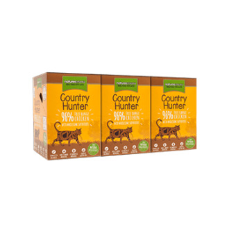 Country Hunter Cat Food Pouch Free Range Chicken 3 x (6 x 85g)