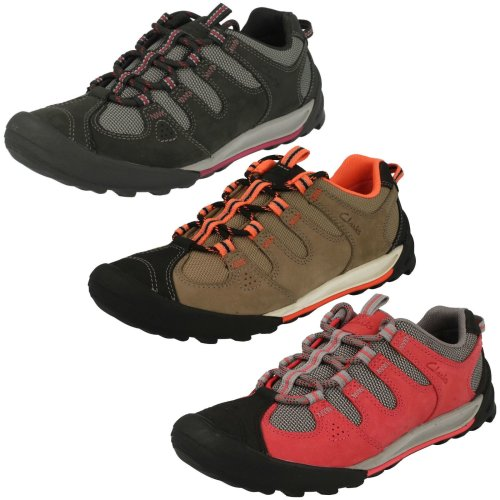 Ladies Clarks Active Trainers Outlay South - D Fit