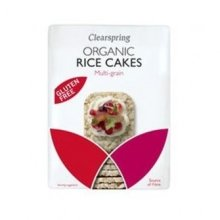 Clearspring - Org 3-Grains thin Rice Cakes 130g
