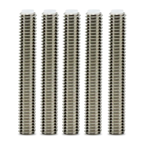 Aussel 5pcs Barrel Stainless Steel Nozzle Throat For Makerbot Mk8 3d Printer Extruder Hot End M6 40mm