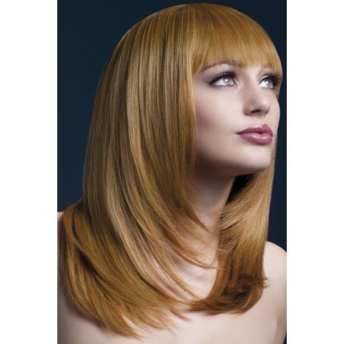 Fever Women's Tanja Wig, One Size, Auburn -  wig fever tanja auburn long smiffys fancy dress 19