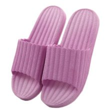 Indoor Cozy Bathroom Non-slip Slippers House Slipper For Womens, Purple