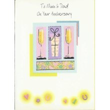 To Mum and Dad On Your Anniversary Greeting Card