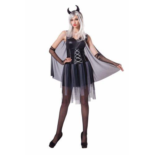 916df420ecdd Bristol Novelty Ac208 Ladies Black Devil Halloween Fancy Dress Costume (uk  - dress black costume devil halloween ladies fancy lady outfit uk womens on  OnBuy