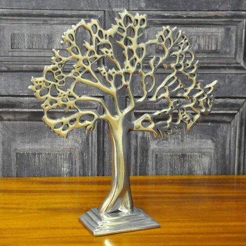 Silver Metal Decorative Table Tree 32cm Shelf Sitter Ornament Decor