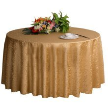 Weddings Banquets Hotels Tabletop Accessories Round Tablecloths 220x220CM (Light Golden)