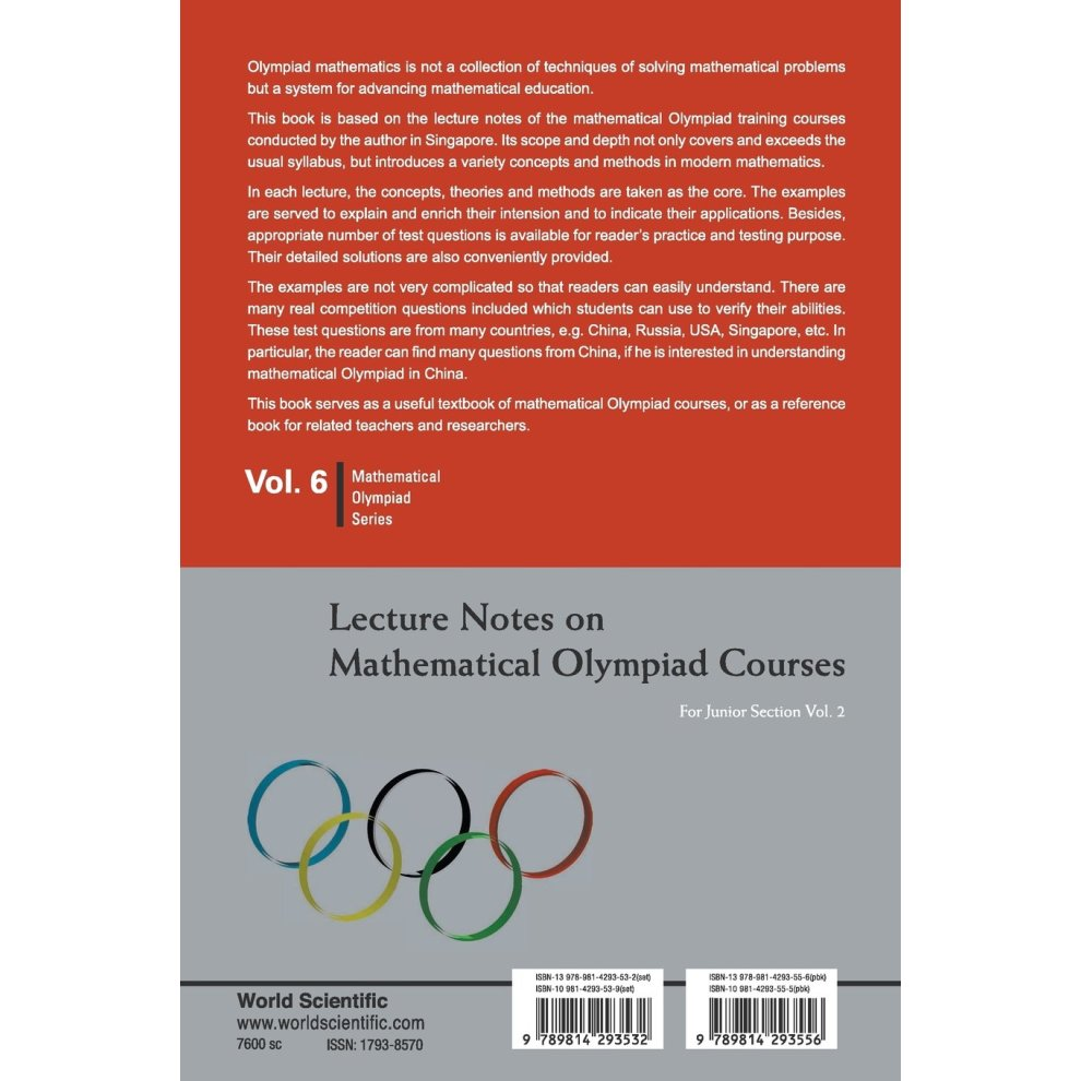 Lecture notes on mathematical olympiad courses: for junior section (in 2  volumes) (Mathematical Olympiad Series)