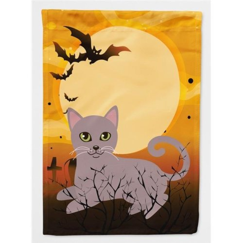 Carolines Treasures BB4452CHF Halloween Russian Blue Cat Flag Canvas House Size