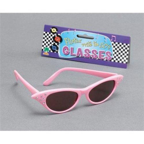 50's Pink Sunglasses With Dark Lens - 50s Fancy Glasses Dress 1950s Sun -  pink 50s fancy glasses dress 1950s sun sunglasses accessory flyaway