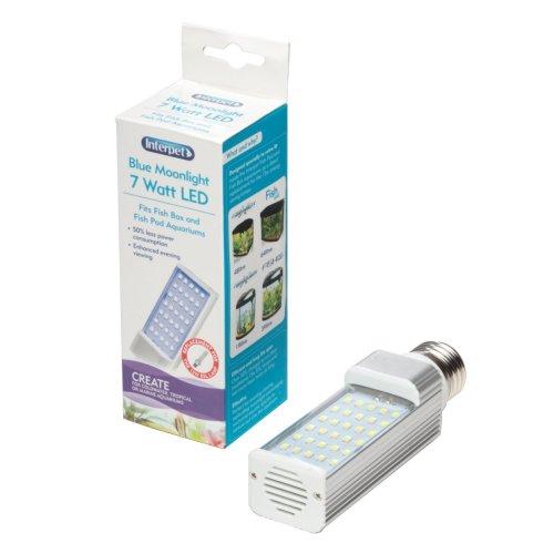 LED Energy Saving Lamp to Fit All Fish Pod/Box Aquariums, 7 W - Blue Moonlight