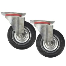 "6"" (150mm) Rubber Swivel Castor Wheels Trolley Furniture Caster (2 Pack) CST010"
