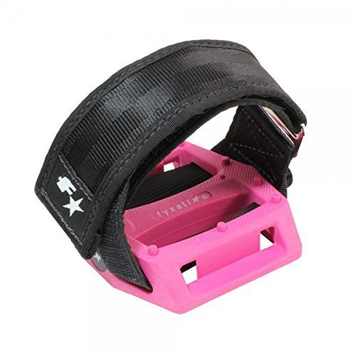 Fyxation Gates Pedal Strap Kit with Pink Pedal and Black Straps
