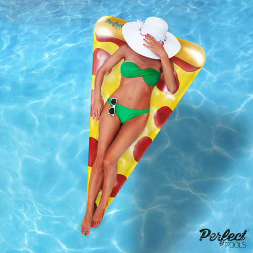 Official 'Perfect Pools' Inflatable Giant Pizza Slice Float | Pool Pizza Float