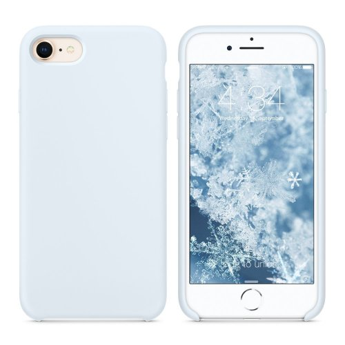 super popular 39142 c7f7e SURPHY iPhone 8 Case, iPhone 7 Case, Liquid Silicone Gel Rubber Shockproof  Case with Soft Microfiber Cloth Lining Cushion for Apple iPhone 8 (2017)...