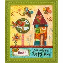 D72-73771 - Dimensions Stamped Embroidery - Home is Happy