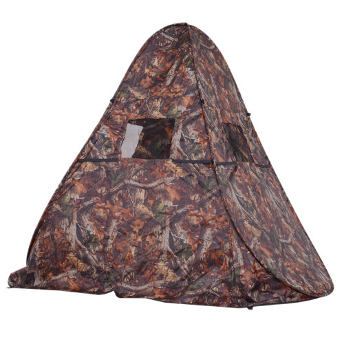 Outsunny Camo Pop Up Hunting Shooting Tent Bird Watching Hide Decoying Photography Ground Blind Outdoor Wildlife