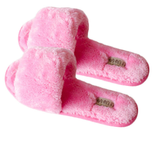 Pairs Womens Indoor Comfortable Soft Cotton Female Plush House Slipper Pink