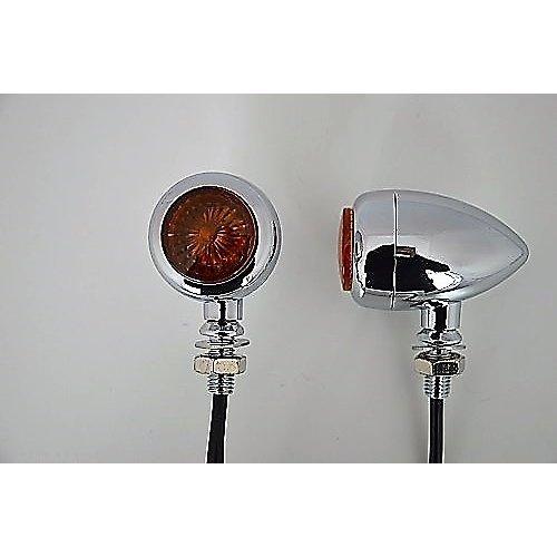 Chrome Solid Aluminium LED Retro Motorcycle Motorbike Indicators