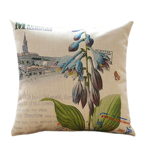 Home Decor American Country Throw Pillow Cushion Cotton Linen Pillow Cover No.11