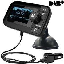 FirstE 5 in 1 Car DAB/DAB+ Radio Portable FM Transmitter (Crystal Digital Sound+ 2.3' Big LCD Screen Bluetooth Receiver+ Micro SD
