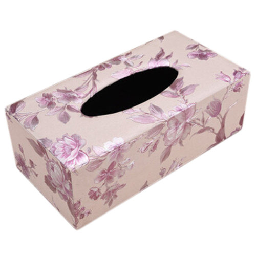 Stylish Tissue Box Rectangle Automobile/Home Tissue Holder Floral Purple B
