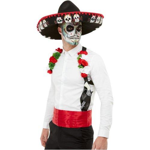 Mens Day of the Dead Fancy Dress Kit Halloween Fancy Dress