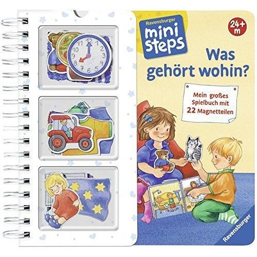 Was gehört wohin?: Mein großes Spielbuch mit 22 Magnetteilen