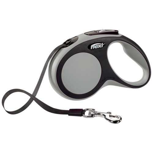 Flexi Tape Leash New Comfort Size S 5 m Grey 21341