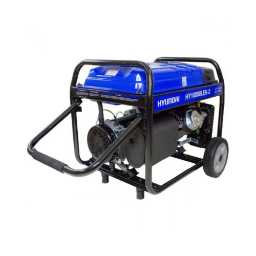Garden Equipment - Hyundai HY10000LEK- 2 the 8kW/10kVA* Recoil & Electric Start Site Petrol Generator