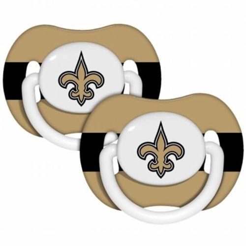 Baby Fanatic 143339 New Orleans Saints Pacifiers 2-pack