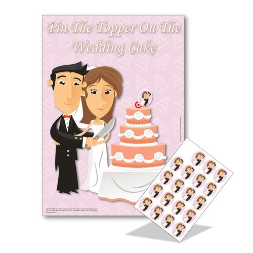 Hen Night Party Games - Pin the Topper on the Wedding Cake