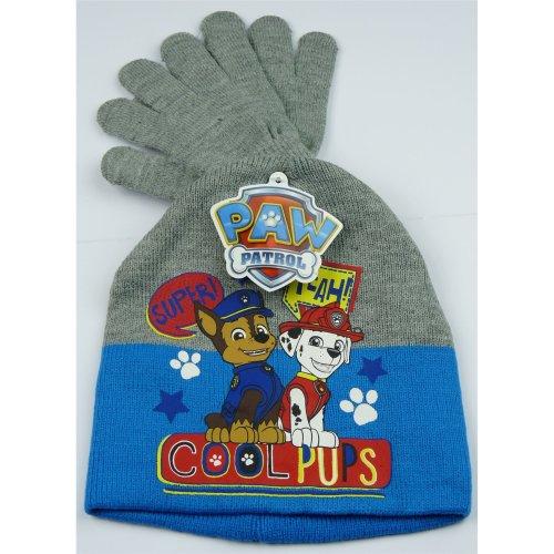 Boys HQ4218 Paw Patrol Winter 2 Piece Set Hat and Gloves Size: 52 cm - 54 cm